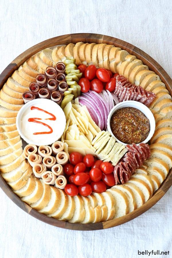 Mini Deli Sandwich Charcuterie Board