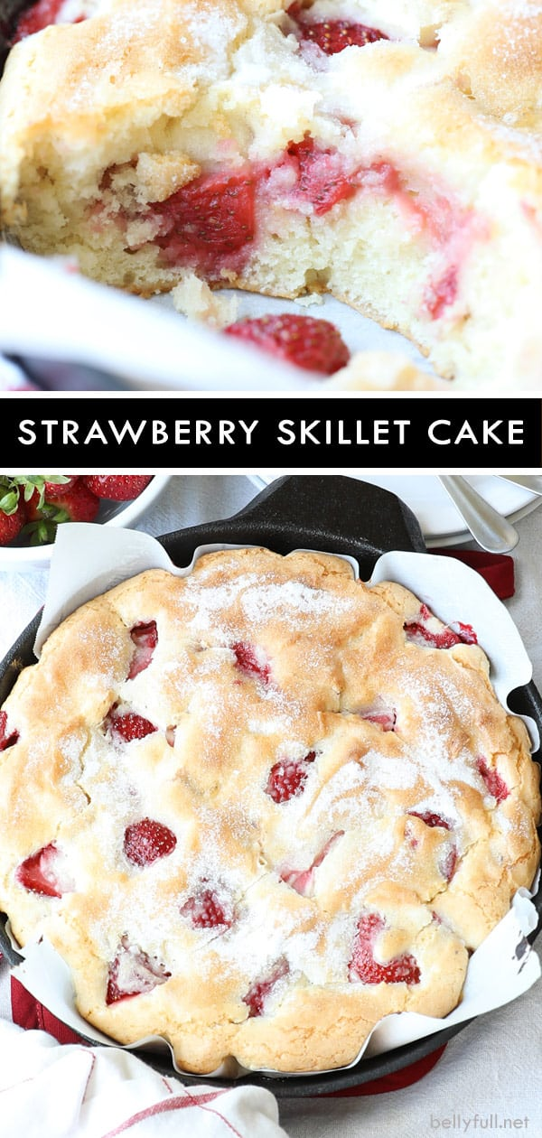 Easy Strawberry Cast Iron Skillet Cake