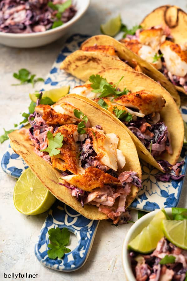 grilled fish tacos with fixings