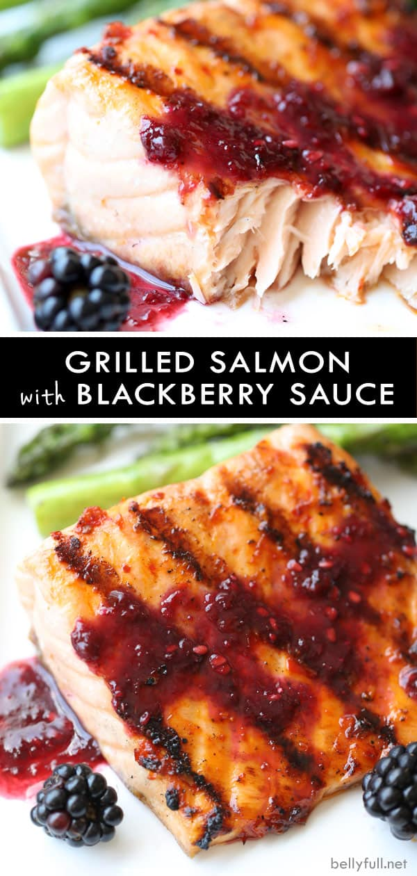 Grilled Salmon with Blackberry Sauce