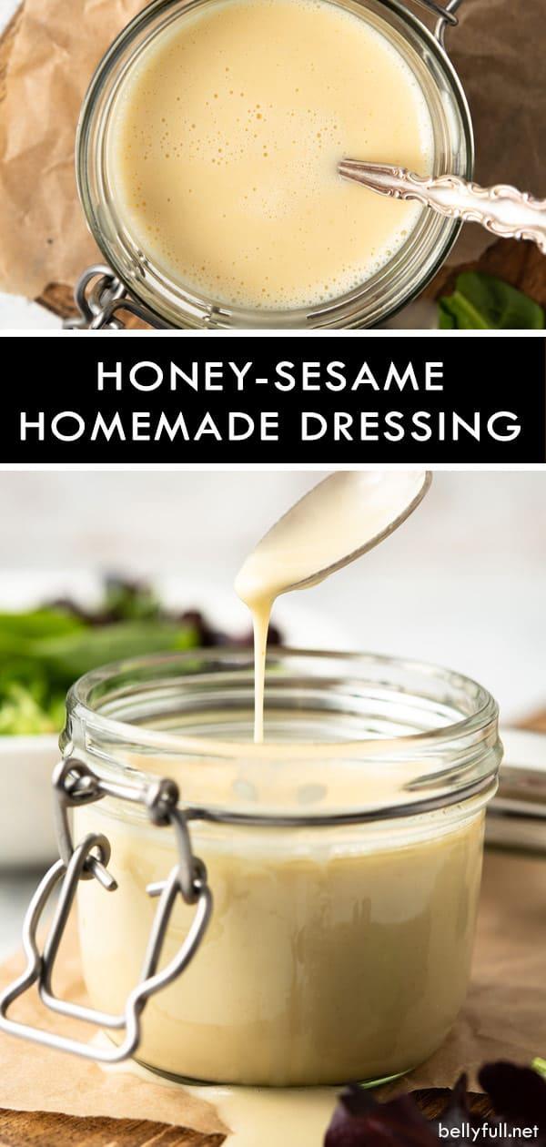Homemade Honey-Sesame Salad Dressing