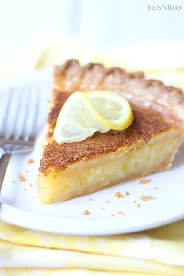 Lemon Curd Pie side angle
