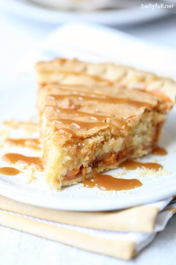 Macadamia Nut Butterscotch Pie slice