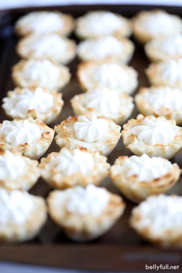 Mini Lemon Tarts with whipped cream
