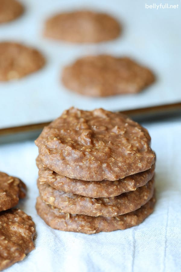 stack of chocolate oatmeal Cookies