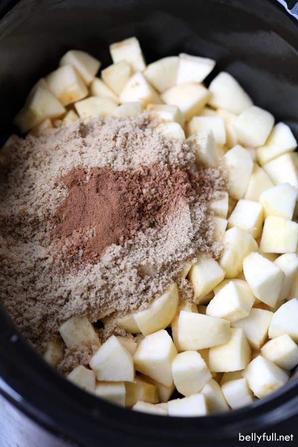 Slow Cooker Applesauce ingredients