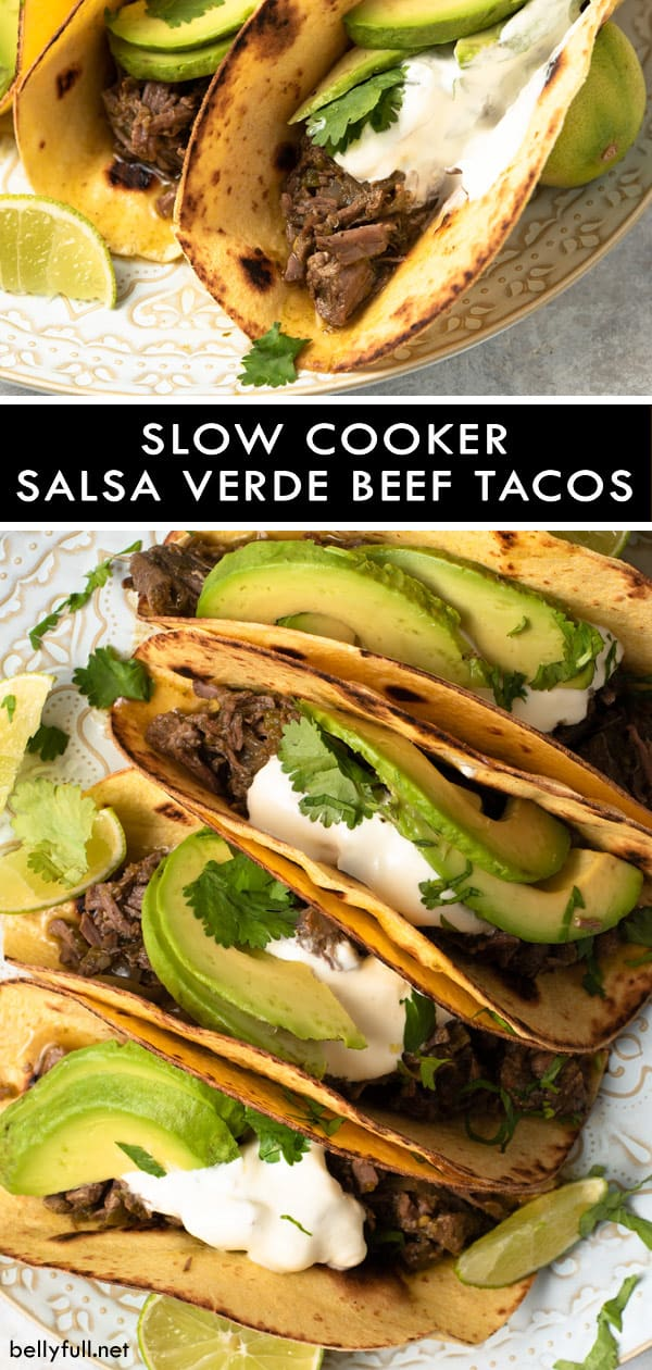 pin for Slow Cooker Salsa Verde Beef Tacos