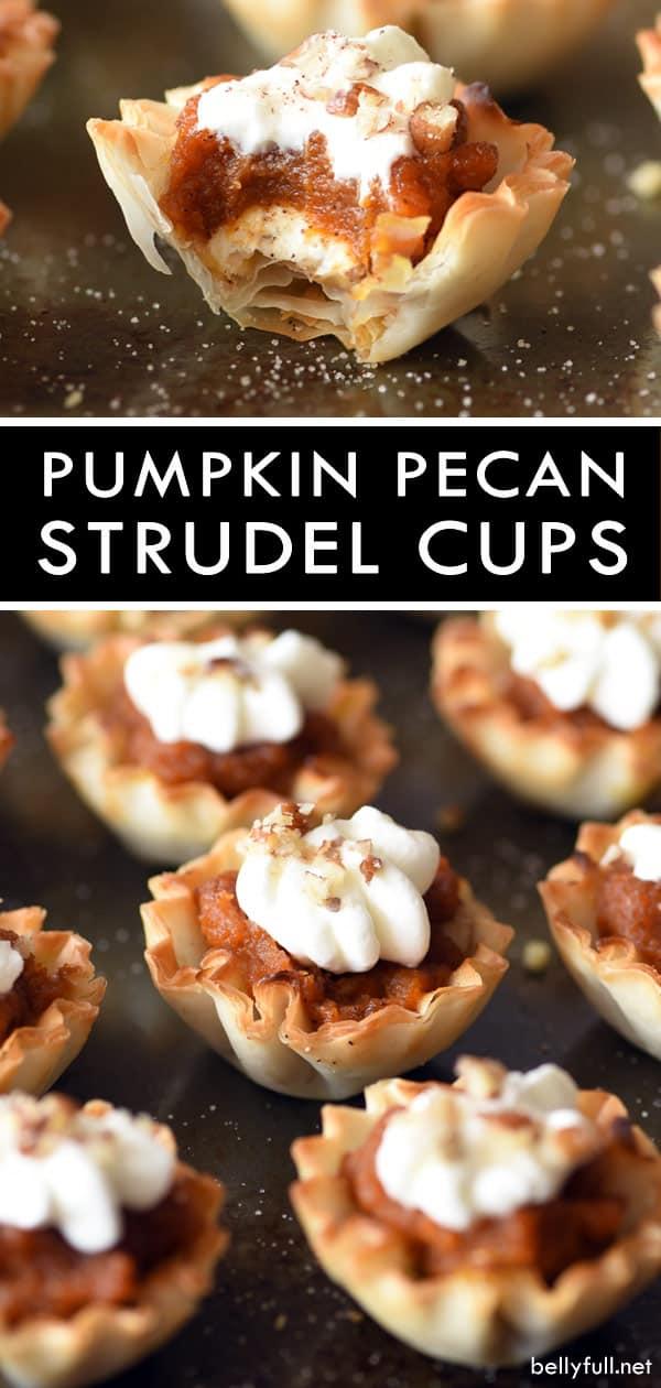 Creamy Pumpkin Pecan Strudel Cups
