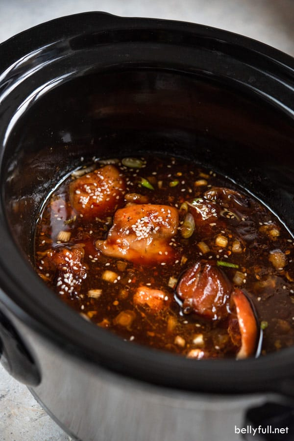 Slow Cooker Honey Sesame Chicken in crock pot