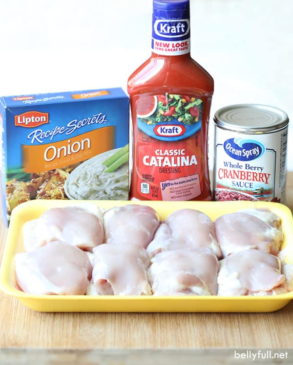 Easy Cranberry Chicken ingredients