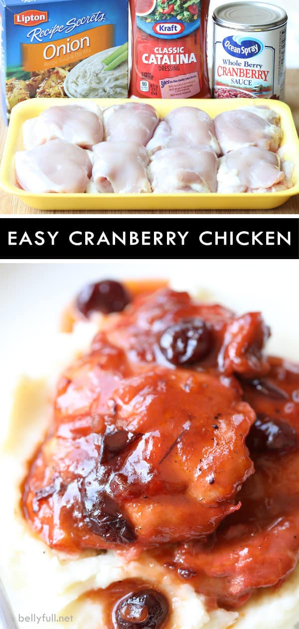 pin for Cranberry Chicken