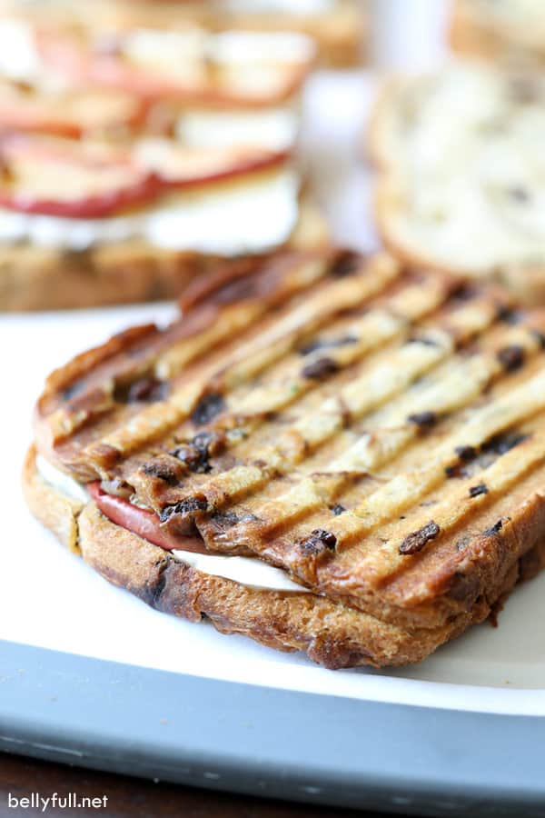 Roasted Apple and Brie Panini grilled