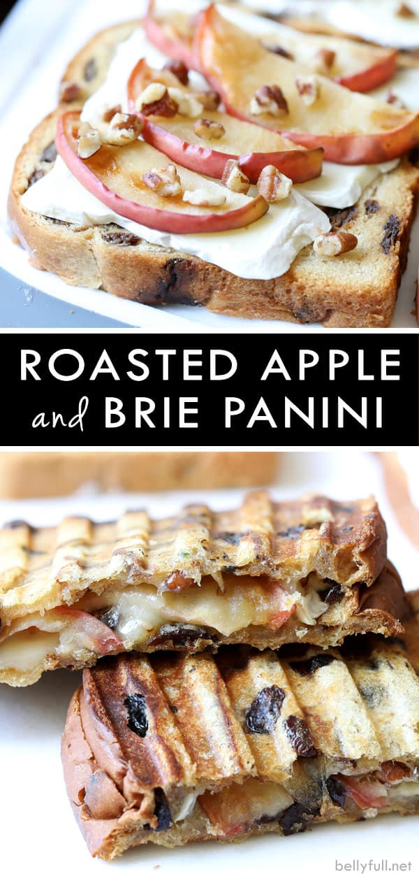 Roasted Apple and Brie Panini