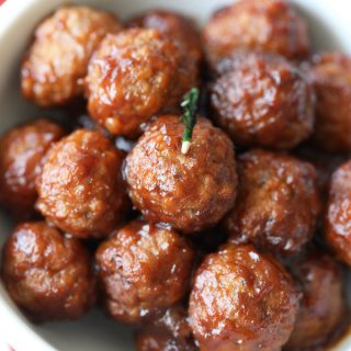 Slow Cooker Cranberry Chili Meatballs