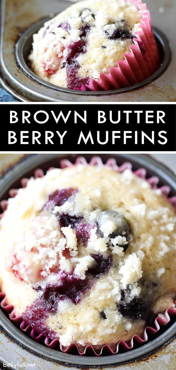 Brown Butter Mixed Berry Muffins