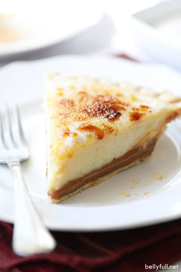 slice of Caramel Creme Brulee Pie