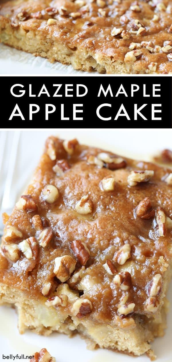 Glazed Maple Apple Cake