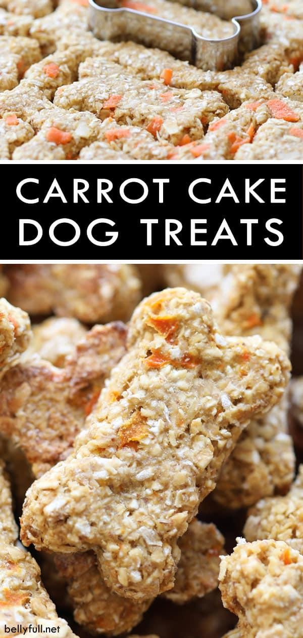 Homemade Carrot Cake Dog Treats