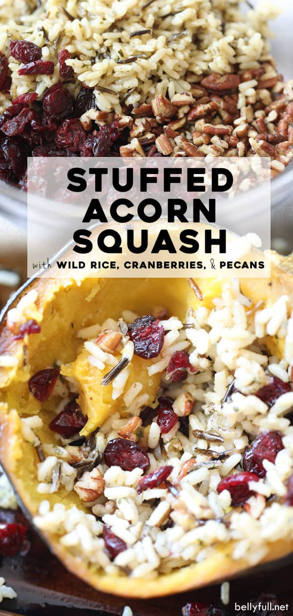 Stuffed Acorn Squash with wild rice mixture