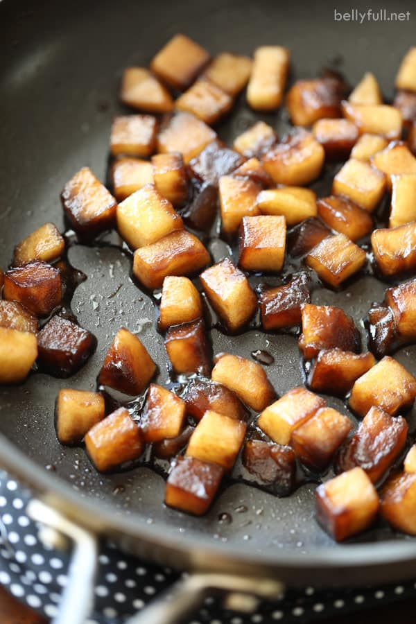 sauteed apples in balsamic and honey