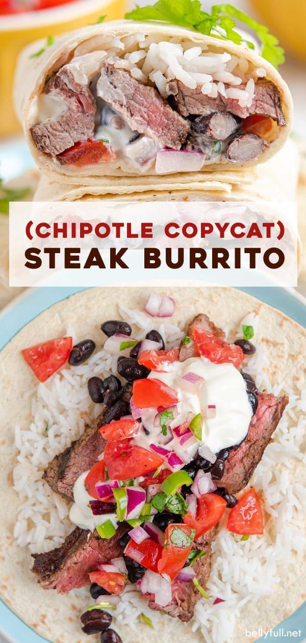 (Copycat) Chipotle Steak Burritos