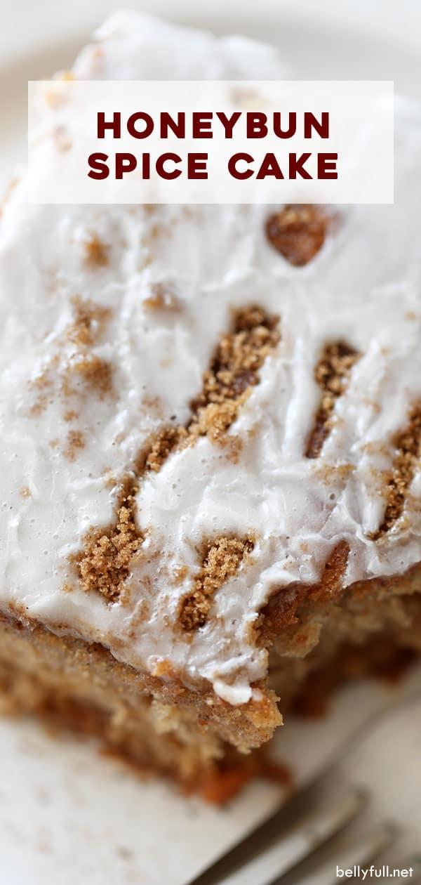 honey bun spice cake slice