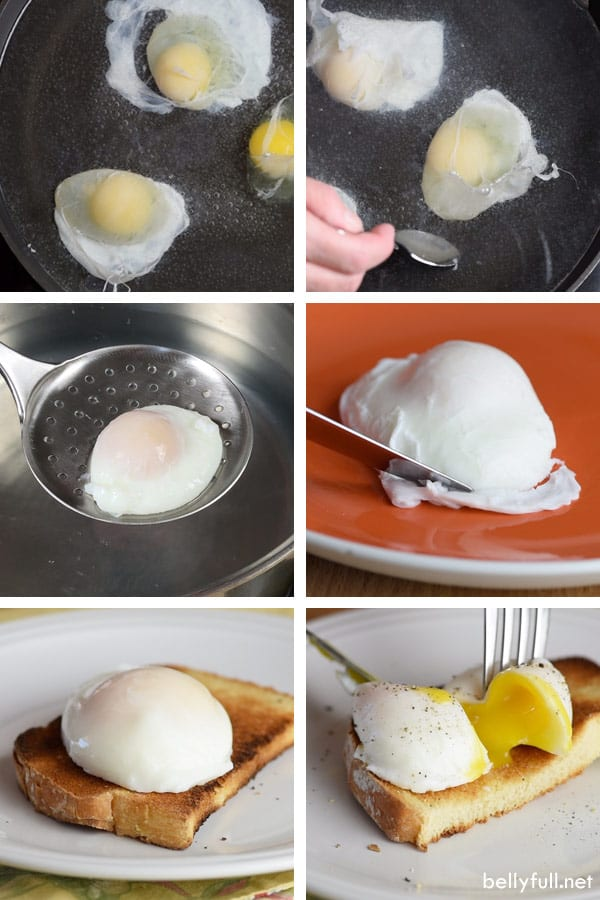 steps by step on how to make perfect poached eggs