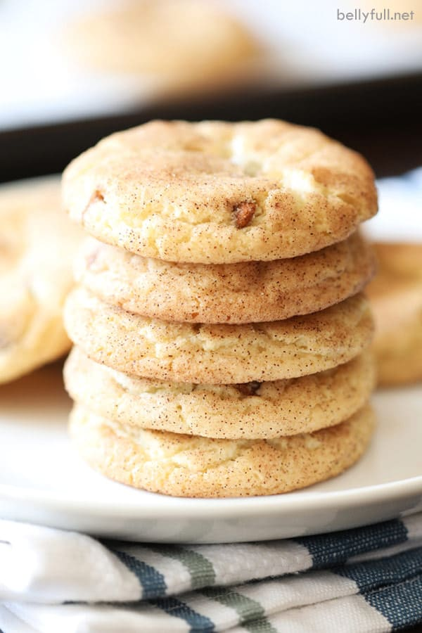 stack of baked Snickerdoodle Cookies