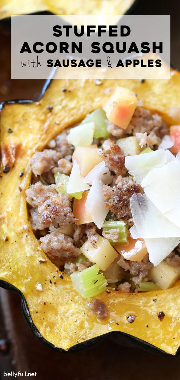Stuffed Acorn Squash with sausage and apples