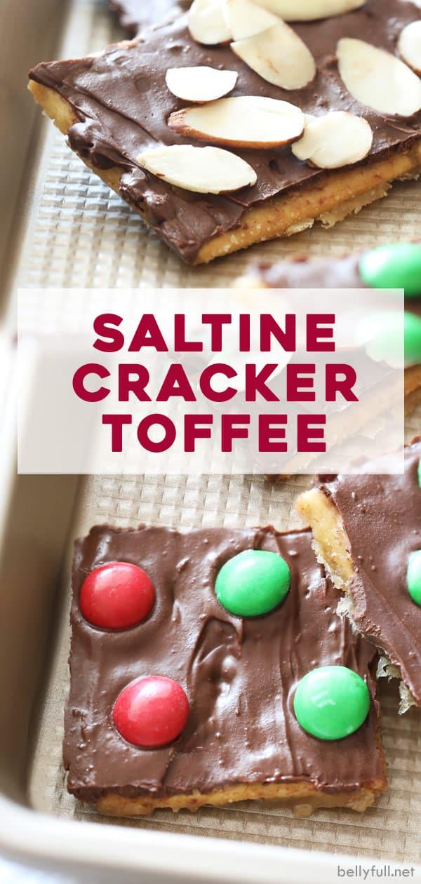 pin Saltine Cracker Toffee