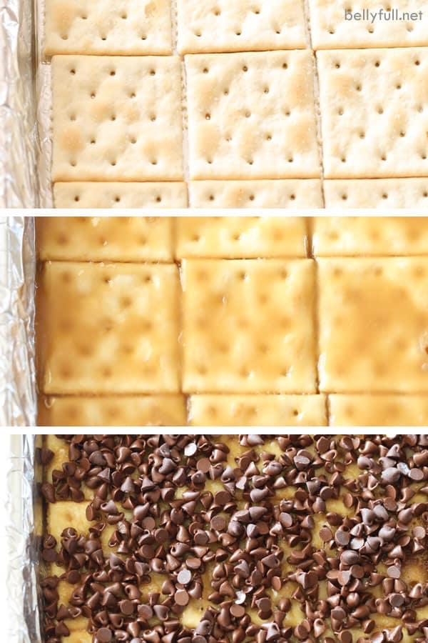 steps to make saltine cracker toffee