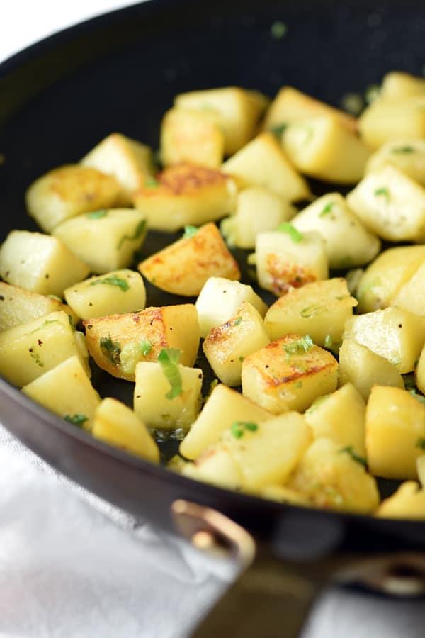 sauteed crispy apples and potatoes