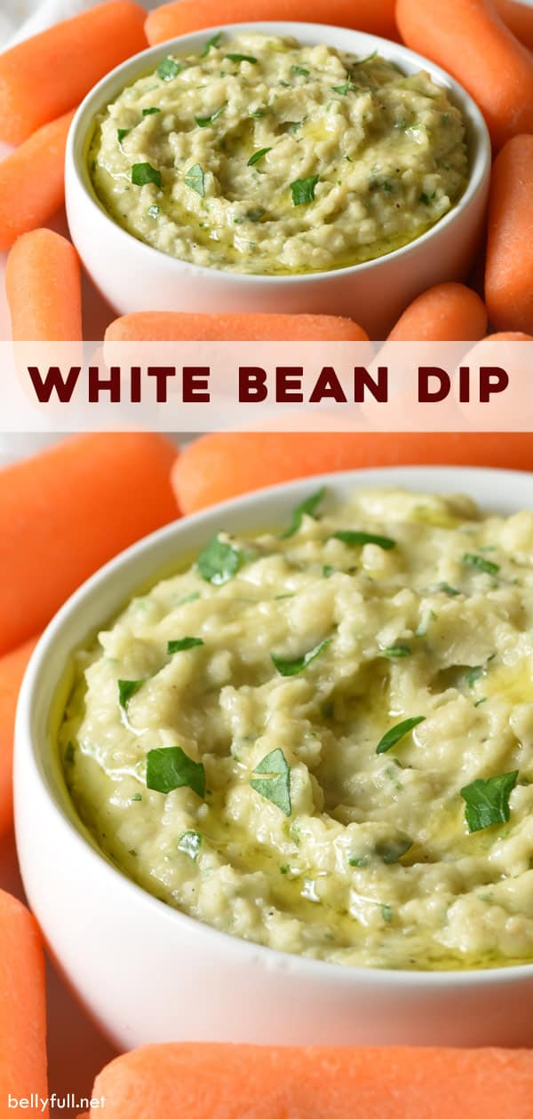 Pin for White Bean Dip recipe