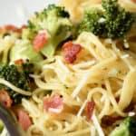 pin for bacon broccoli pasta
