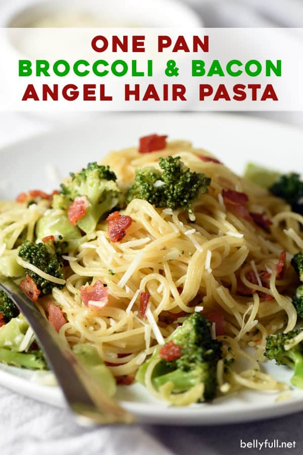 pin for bacon and broccoli pasta