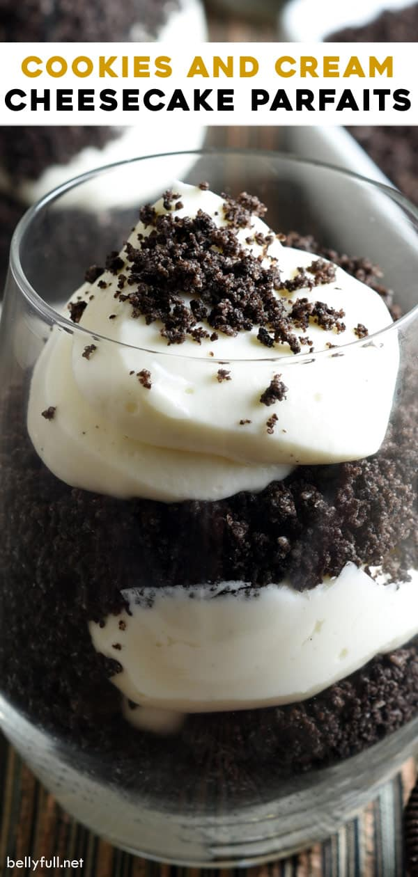pin for Cookies and Cream Cheesecake Parfait
