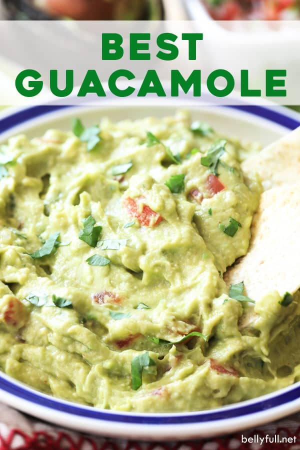 pin for best guacamole recipe