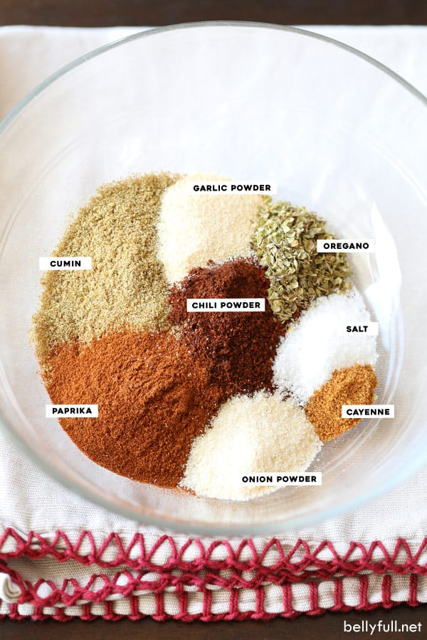 taco seasoning spices in bowl