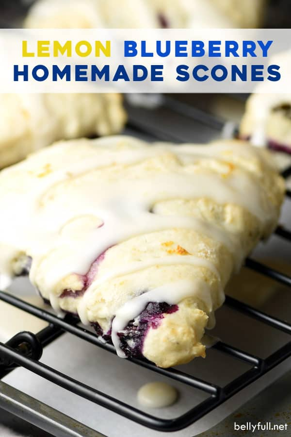 pin for Lemon Blueberry Scones