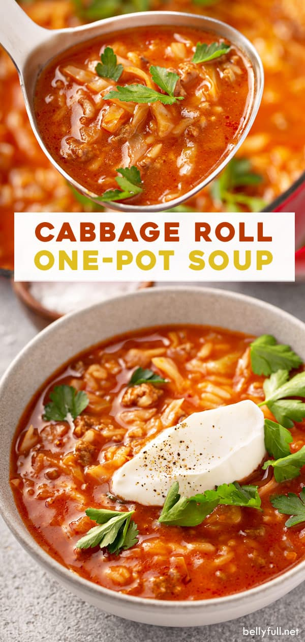 long pin for cabbage roll soup