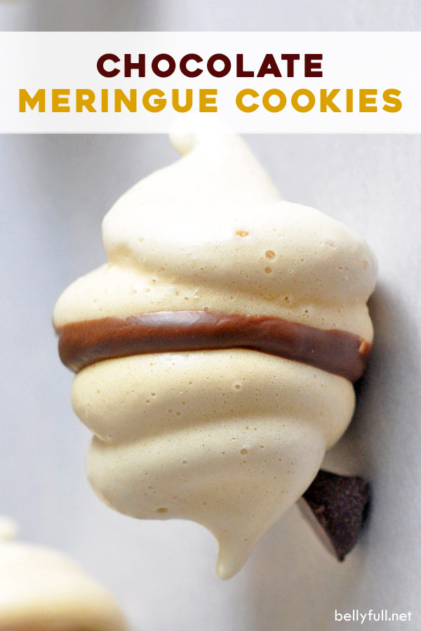 pin for chocolate meringue cookies