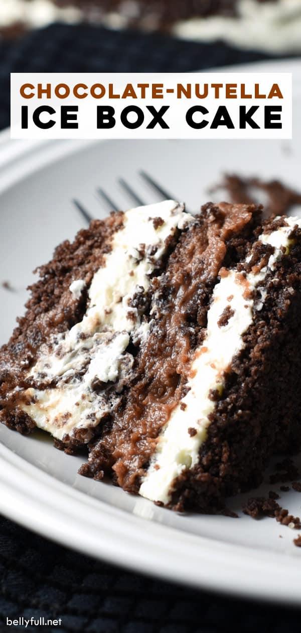 long pin for No Bake Chocolate Icebox Cake