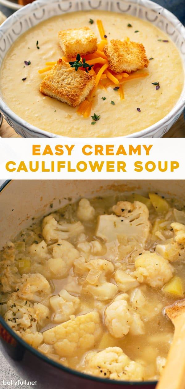 long pin for Creamy Cauliflower Soup