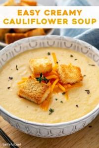pin for Creamy Cauliflower Soup