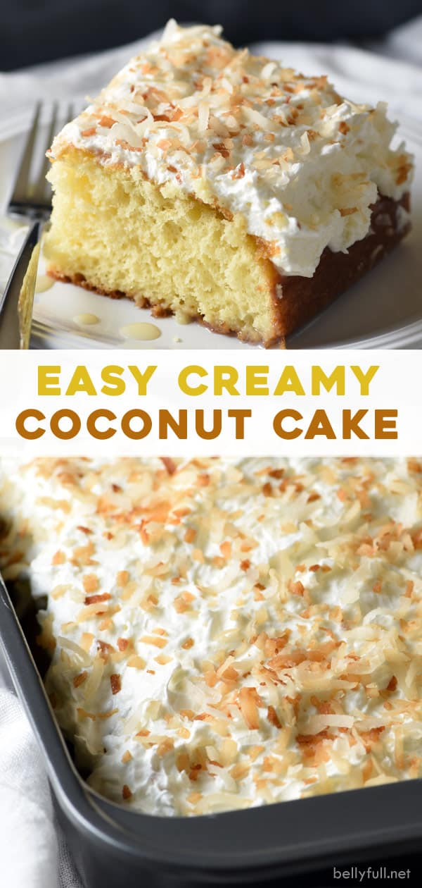 long pin for creamy coconut cake
