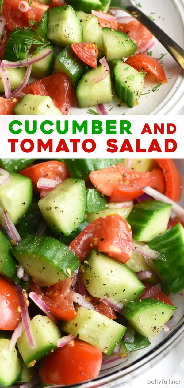 pin for Cucumber Tomato Salad