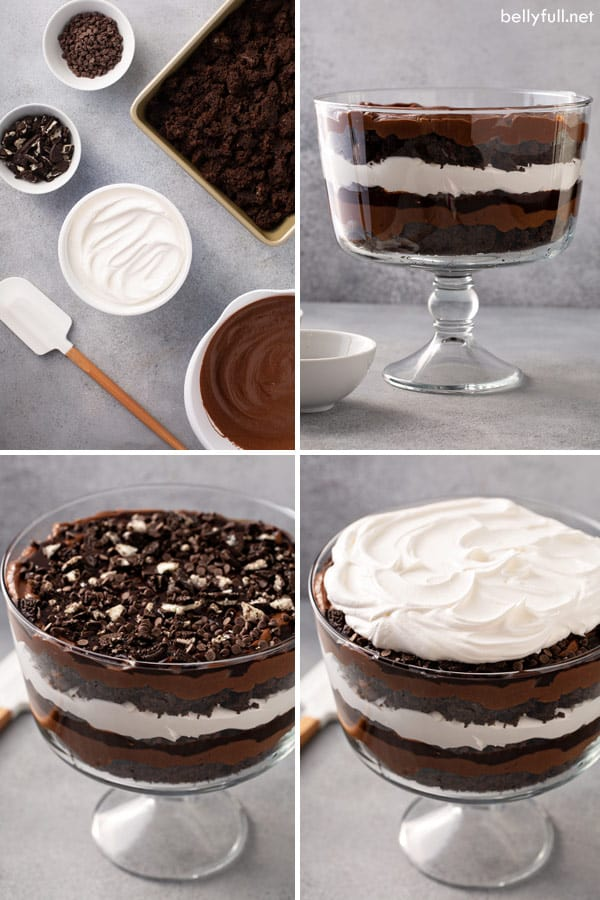 step by step pictures of chocolate trifle