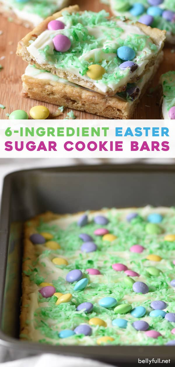 long pin for Easter Sugar Cookie Bars