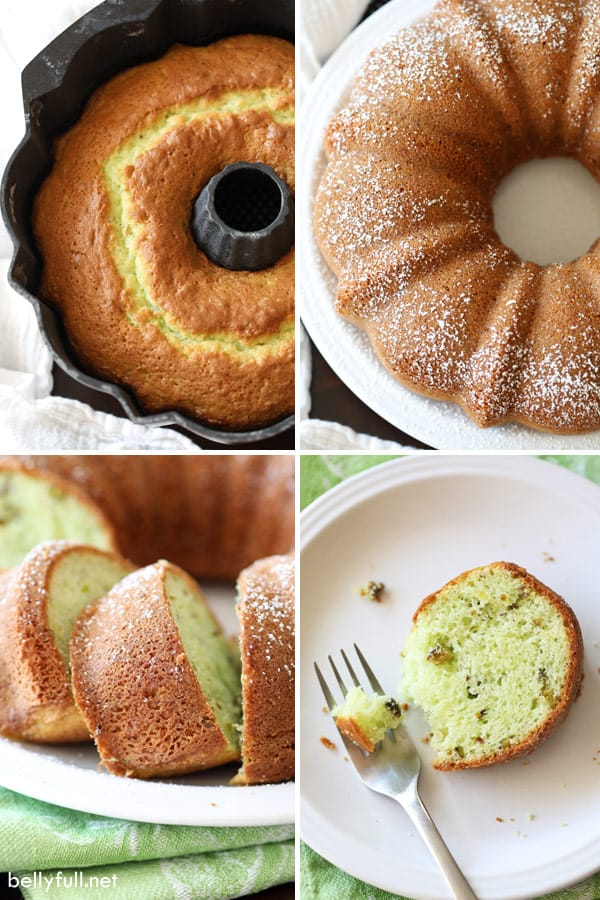 Pistachio Cake step by step process pictures