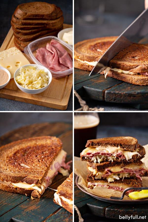 Reuben Sandwich step by step photos